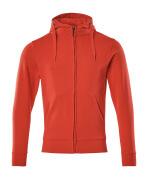 51590-970-202 Sweat capuche zippé - Rouge trafic