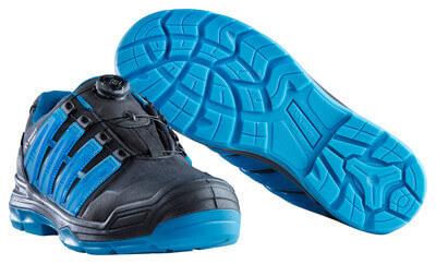 F0112-909-0993 Chaussures de sécurité - Noir/Bleu pétrole