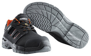 F0115-937-09140 Chaussures de sécurité - Noir/Orange foncé