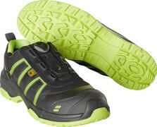 F0125-773-0917 Chaussures de sécurité - Noir/Vert lime