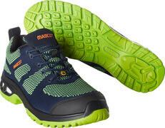 F0131-849-01033 Chaussures de sécurité basses - Marine foncé/Vert lime