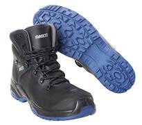 F0141-902-0901 Chaussures de sécurité hautes - Noir/Bleu roi