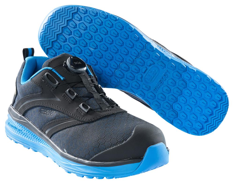 F0251-909-0911 Chaussures de sécurité basses - Noir/Bleu roi